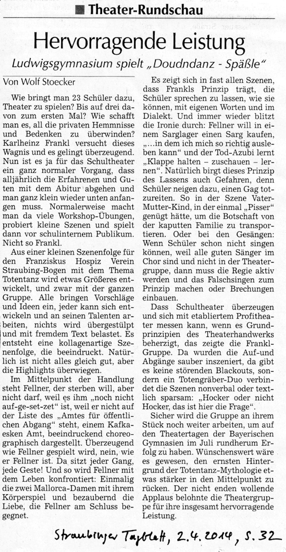 2014-04-02-Doudndanz-Kritik-SR-Tagblatt