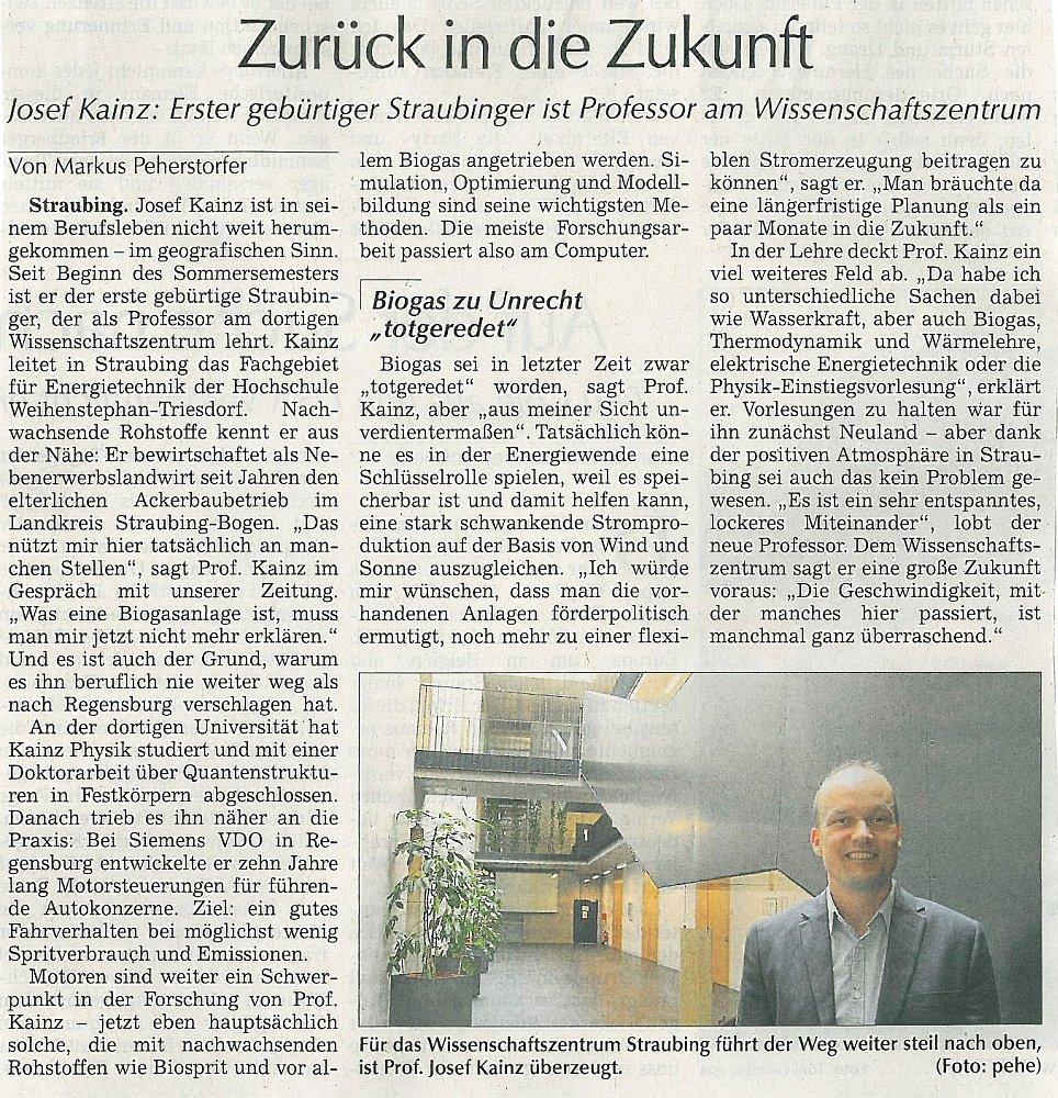 'Straubinger Tagblatt'-Artikel vom 4. Juli 2015