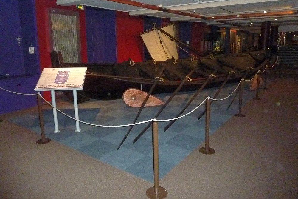 Nachbau eines normannischen Boots. (Foto: Kern)