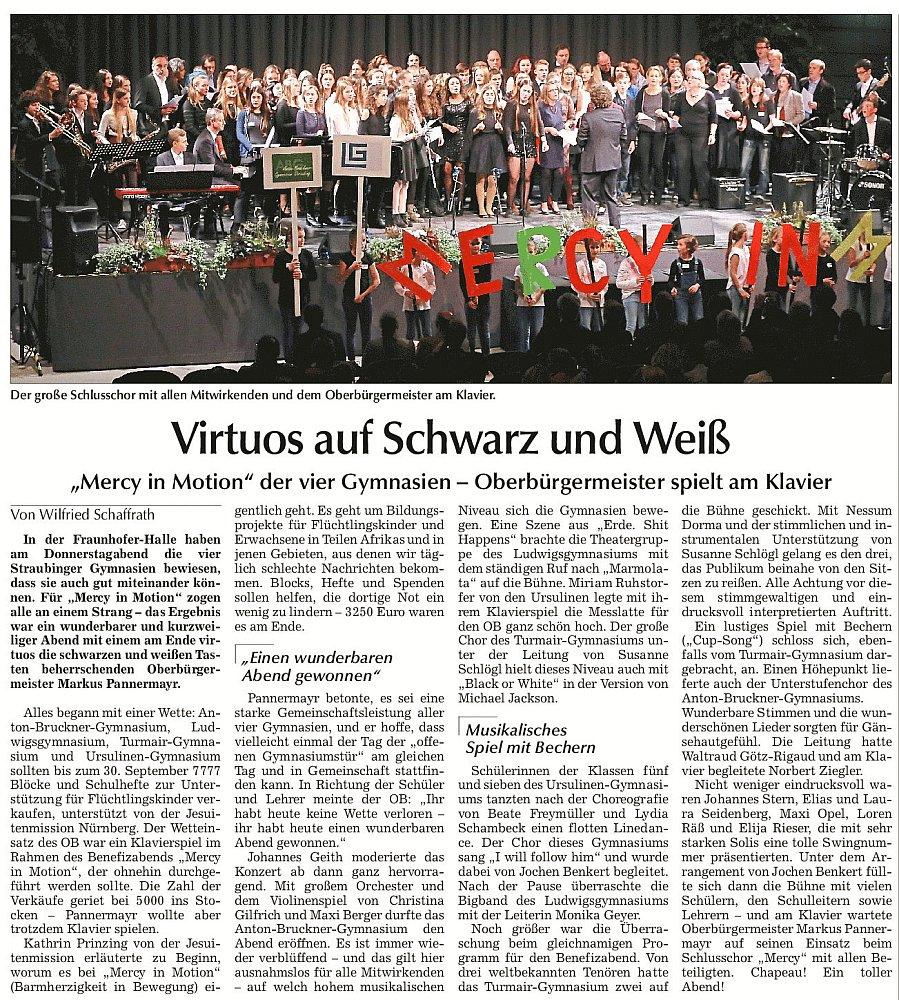 Straubinger Tagblatt vom 29. Oktober 2016